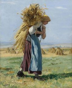'Gleaner in the fields' by Julien Dupré, 1887