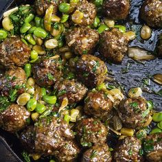 Ottolenghi's Beef Meatballs with Broad Beans and Lemon - gezonde voeding - kolydraatarm - pascalle naessens - Ottolenghi Recipes, Yotam Ottolenghi, Beef Recipes, Cooking Recipes, Meatball Recipes, Recipies, Otto Lenghi, Easy Meals, Healthy Dinners