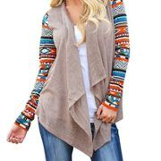 AuntTaylor Ladies Solid Drape Loose Bohemian Poncho Cover Up Tops Khaki. Womens Solid High Low Long Sleeve Boho Open Front Blouses Cardigans #womensfashion #cardigans #latestfashion #sweaters #womens #apparel #keepwarm #fashion