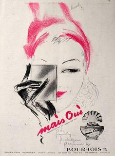 1945 Bourjois Mais Oui Perfume Ad ~ Leonard
