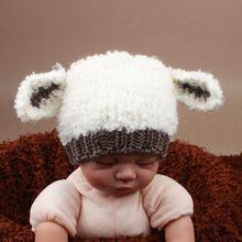 Super doux bébé chapeau nouveau - né photographie Props garçon fille Crochet ours animaux Beanie Cap mignon bébé hiver chapeau H261(China (Mainland))