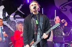 Mikey onstage at Sunrise
