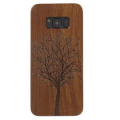 Cover for Galaxy Mobile Phone Bag Carving Handmade Hard Wood Phone Case for Samsung Galaxy S 8 Shell Funda Coque - Tree Samsung Galaxy S 8, Galaxy S8, Phone Cases, Sculpture, Hardwood, Shells, Trees, Carving, Phone Accessories