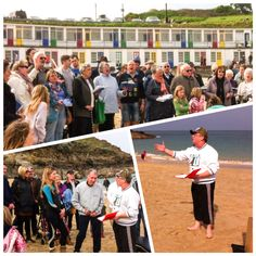 Worship on Porthgwidden beach, St Ives, and baptism promises. Being made. Easter Day 2015.