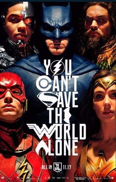 Liga da Justiça: Você não pode salvar o Mundo sozinho (Pôster SDCC17).
