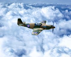 Early Model P-51 Mustang Fighter Plane - World War II Photograph