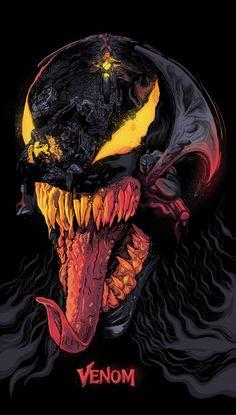 HeroChan — Venom - Alternate Poster Art by Rahul Jha Marvel Comics, Films Marvel, Marvel Venom, Marvel Avengers, Venom Spiderman, Poster Marvel, Venom Comics, Marvel Jokes, Marvel Cinematic