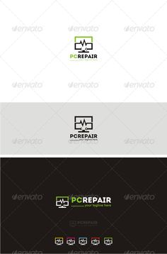PC Repair - Objects Logo Templates