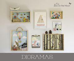 Diorama - Tea on the moon by Tea on the moon ♥ begoña ♥, via Flickr