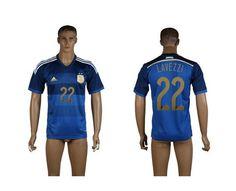 AAA+ Thailand 2014 Brazil World Cup Argentina 22 L**EZZI Away Soccer Jersey prices USD $19.50 #cheapjerseys #sportsjerseys #popular jerseys #NFL #MLB #NBA