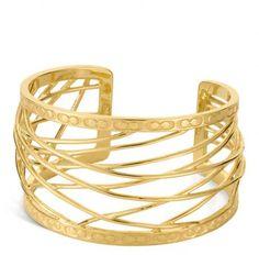 COACH CUFFS AND BRACELETS | Coach Signature C Wire Cuff in Gold (gold/gold) - Lyst