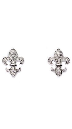 Silver Royal Fleur-de-Lis Earrings