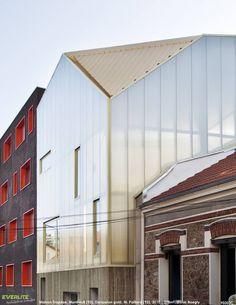 Façades polycarbonate - Maison Trapèze, Montreuil