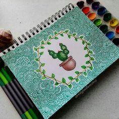 Cactus Effective pictures that we offer via Cactus pattern A quality . - Cactus Effective pictures we offer about Cactus pattern A quality picture can tell you many things. Mandala Design, Mandala Art, Mandala Drawing, Cactus Drawing, Marker Kunst, Marker Art, Doodle Art Drawing, Painting & Drawing, Doodle Doodle