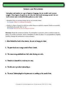 Simile Worksheets | Homeschooldressage.com