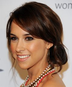 Lacey Chabert hair | Lacey Chabert Updo Hairstyle - Dark Brunette - side view 1