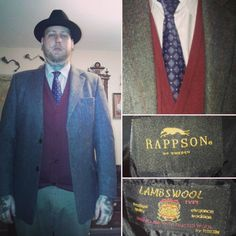 Today's outfit. #vintagestyle #menswear #1950sfashion #truevintageootd #suitjackets #tie #fedora #lambwool #rappsonofsweden