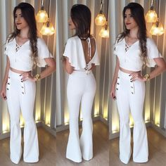 Formas de vestir White Outfits, Stylish Outfits, Summer Outfits, Fashion Outfits, Womens Fashion, Outing Outfit, Vetement Fashion, Fashion 2018, Fashion Trends
