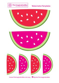Make your own watermelon bunting for summer parties and fun - 2 x free templates to download