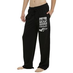 Supernatural Driver Picks The Music Guys Pajama Pants Hot Topic (£11) ❤ liked on Polyvore featuring intimates, sleepwear, pajamas, cotton pj pants, cotton pyjamas, cotton pjs, cotton pajamas and cotton sleepwear