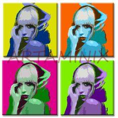 LADY GAGA POP ART #PAINTING #HANDMADE