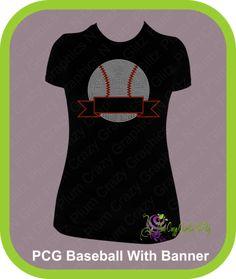 Rhinestone Baseball with Banner, $23.99