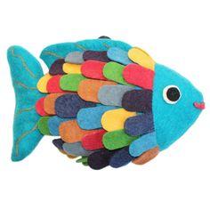 Felted Friend Fish Design -