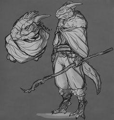 TES art,The Elder Scrolls,фэндомы,Аргонианин,TES расы,koshkaah-fr