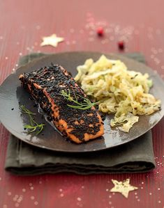 Salmon Dishes, Fish Dishes, Ny Food, Salmon Recipes, Avocado Toast, Fries, Spicy, Marie Claire, Baking