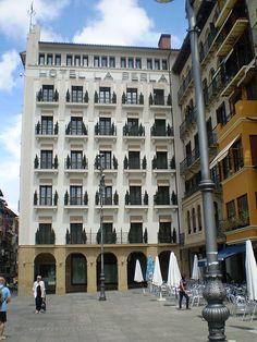 Hotel la Perla en la Plaza del Castillo de Pamplona