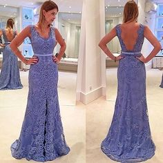178.00$  Buy now - http://vicyx.justgood.pw/vig/item.php?t=kmea1we30871 - Lavender Sleeveless Backless Lace Overlay Floor Length Evening Dress