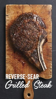 The reverse-sear method in this recipe ensures a juicy steak because it prevents overcooking. Cook over low heat first, just shy of perfect doneness, then sear the surface to brown and […] Grilled Steak Recipes, Grilled Meat, Porterhouse Steak Rezept, Reverse Sear Steak, Lamb Shank Recipe, Steak Dishes, Pan Seared Steak, Prime Steak, Perfect Steak