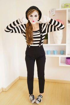 femme mime, une autre suggestion deguisement halloween facile