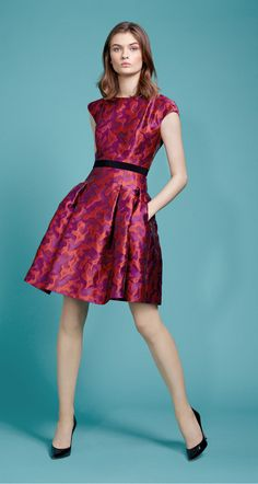 Robe en jacquard camouflage - Les robes - Collection - Automne Hiver 2015-16