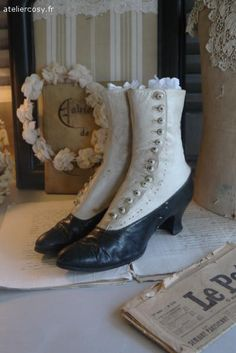 Chaussures anciennes  Brocantes de charme atelier cosy.fr