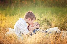 """http://learnshootinspire.com/ """"one a day"""" winner by Cherise Kiel Photography on Facebook! #newborn #sibling #photography"""