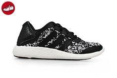 Adidas Damen - Pureboost W Q4 - Schwarz Weiß - Farbe: Schwarz Weiß, 40 ⅔ - Adidas sneaker (*Partner-Link)
