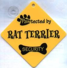 DOG SIGN PAWTECTED BY RAT TERRIER SECURITY