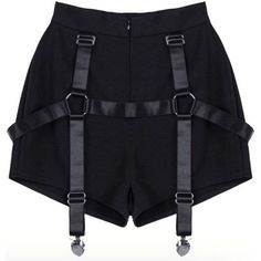 [Darker than Black] harness buckle waist shorts Stage Outfits, Edgy Outfits, Grunge Outfits, Cool Outfits, Fashion Outfits, Mein Style, Mode Streetwear, Kawaii Clothes, Character Outfits
