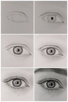 how to draw realistic eye step by step.:separator:how to draw realistic eye step by step. Pencil Art Drawings, Kawaii Drawings, Art Drawings Sketches, Easy Drawings, Eye Pencil Drawing, Horse Drawings, Drawing Lessons, Learn Drawing, Figure Drawing