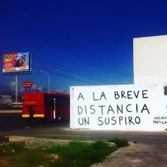 A la breve distancia de un suspiro  #lavidaesarte #accionpoetica