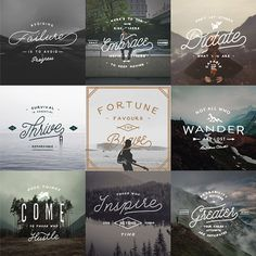 Lettering Collection No. 001 on Behance by Jeremy Vessey