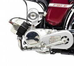 The Yamaha is an icon of titanic proportions in Britain, the moped was legal for riders as young as 16 and it was quicker than anything else in Motorcycle Engine, Motorcycle Art, 49cc Moped, James May, Yamaha Motor, 50cc, Automotive Art, James Bond, Titanic
