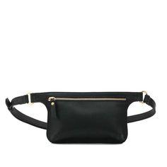 POLA Leather Waist Bag BLACK SMOOTH
