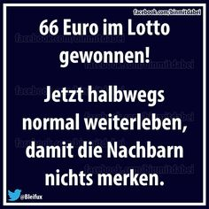 Im Lotto gewonnen                                                                                                                                                      Mehr