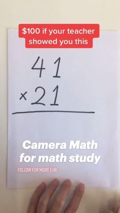 Cool Math Tricks, Maths Tricks, Math Hacks, Math Tutorials, Math Tips, Kids Math Worksheets, Math Resources, Math Activities, Math Skills