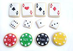 Las Vegas / Poker / Casino Sugar Cookies by guiltyconfections, $23.40
