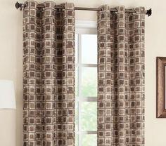 Curtain & Bath Outlet - Geometric Foamback Grommet Curtain Panel