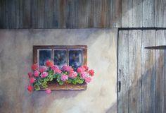 Ann Fullerton Watercolours - Original Watercolors   The Barn Window