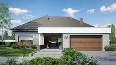 HomeKoncept-26 - zdjęcie 2 Modern Bungalow Exterior, Modern Bungalow House, Modern House Plans, Modern House Design, Home Building Design, Building A House, House Design Pictures, Beautiful House Plans, New Home Designs